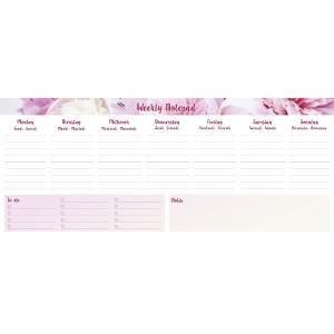Notizblock Simplex 40751, 1 Woche pro Seite, undatiert, 60 Seiten, pink