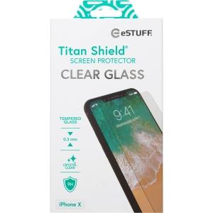 eStuff Schutzglas Titan Shield für Apple iPhone X, 0.3 mm