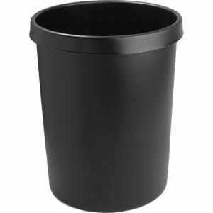 Papierkorb Helit, 45 l, Kunststoff, schwarz