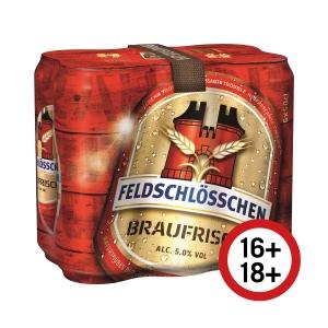 Bier Feldschlösschen Braufrisch, 50 cl, Packung à 24 Dosen
