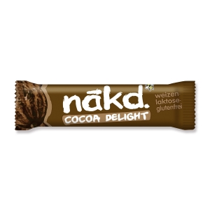 Riegel Nakd Cocoa Delight Lotus, 35 g, Packung à 18 Riegel