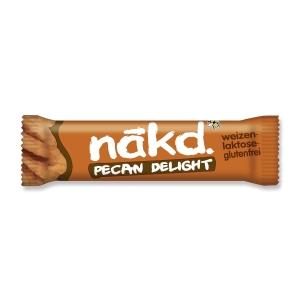 Riegel Nakd Pecan Delight, 35 g, Packung à 18 Riegel