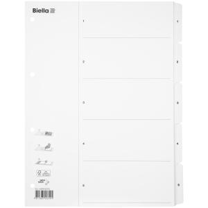 Kartonregister Biella, A4, mit SmartIndex