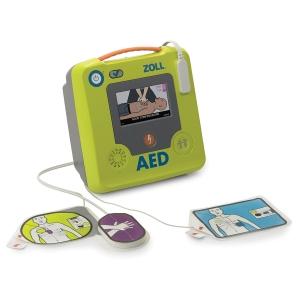 Defibrillator AED 3, LCD-Farbdisplay, italienische Anleitung