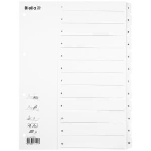 Kartonregister Biella, A4, weiss