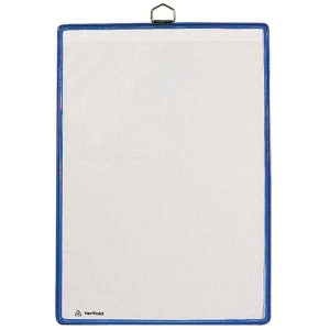 Sichttasche Tarifold 154503 A4, mit Metallaufhänger, blau, Packung à 5 Stück