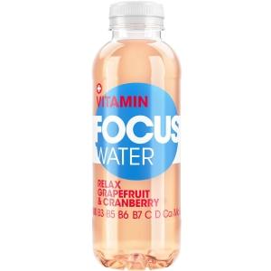 Mineralwasser Focus Water, Grapefruit & Cranberry, Packung à 12 Flaschen