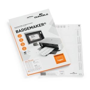 Einsteckschilder Durable Badgemaker 1453-02, 40x75 mm, weiss, Pk. à 240 Stk.