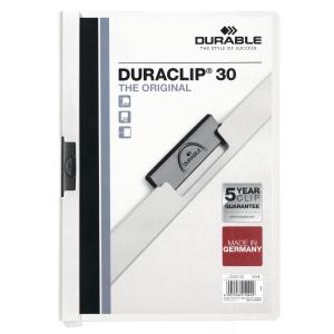 Klemmhefter Duraclip, A4, Füllhöhe 3 mm, weiss