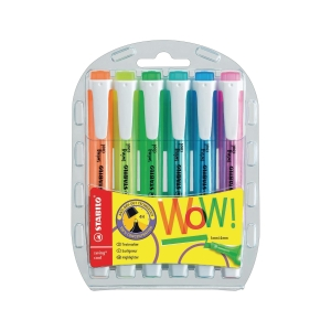 Leuchtmarker Stabilo Swing Cool 275/31, Keilsp., Strichbreite 1-4 mm,6er-Set,ass