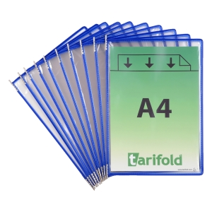 Sichttasche Tarifold 114001 A4, blau, Packung à 10 Stück