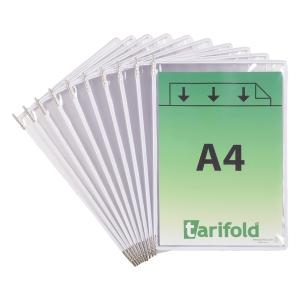 Sichttasche Tarifold 114002 A4, weiss, Packung à 10 Stück