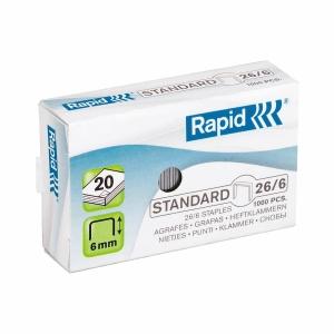 Heftklammern Rapid, 26/6, 6 mm, Packung à 1000 Stück