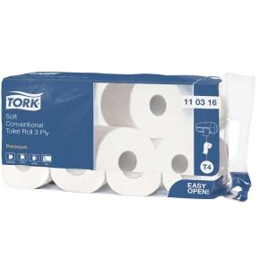 Toilettenpapier Tork 110316, 3-lagig, hochweiss, Pk. à 72 Rollen (9x8 Rollen)