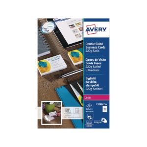 Visitenkarten Avery Zweckform C32016, 85x54 mm, Laser, weiss, Pk. à 250 Stk.
