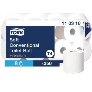 Toilettenpapier Tork 110316, 3-lagig, hochweiss, Pk. à 8 Rollen