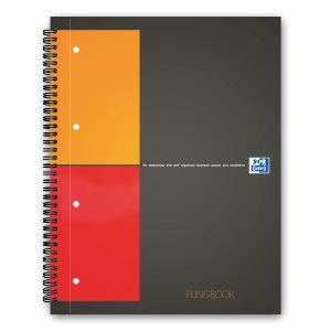 Notizheft Oxford International Filingbook A4+, 5 mm kariert, 100 Blatt