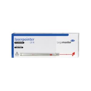 Laserpointer Legamaster LX4, mit rotem Laser, silber