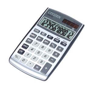 Taschenrechner Citizen CPC-112 Basic+, 12-stellige Anzeige, silber