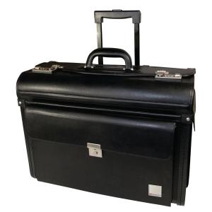 Piloten-Koffer Monolith, mit Rollen, schwarz