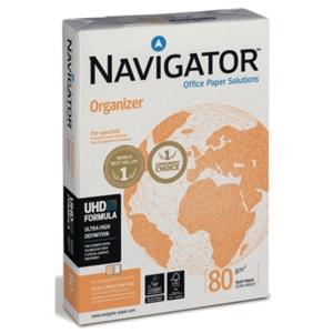 Kopierpapier Navigator Organizer A4, 80 g/m2, 4fach gelocht, FSC, Pk. à 500 Bl.
