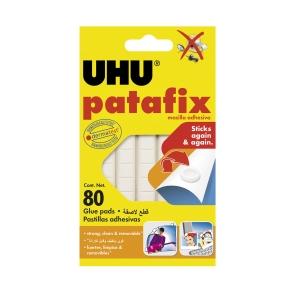 Klebestücke Uhu Patafix, weiss, Packung à 80 Stück