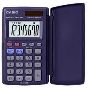 Taschenrechner Casio HS-8VER, 8-stellige Anzeige, blau