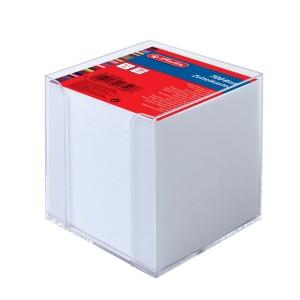 Zettelbox Herlitz, 10x10 cm, mit 700 Blatt, transparent