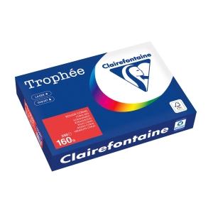 Kopierpapier Trophee 1004 A4, 160 g/m2, korallenrot, Packung à 250 Blatt