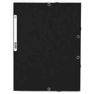 Gummizugmappe Lyreco A4, Karton 390 g/m2, schwarz, Packung à 10 Stück