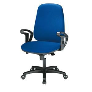 Bürostuhl Basic J962, hohe Rückenlehne, blau