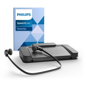 Wiedergabestation Philips LFH7177, Fusspedal und Kopfhörer