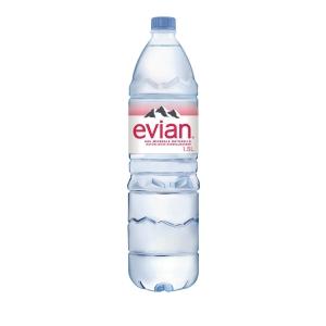 Evian Mineralwasser ohne Kohlensäure 1,5 l, Packung à 6 Flaschen