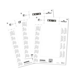Ersatz-Einsteckschilder Durable 1460, 61x210 mm, weiss, Packung à 20 Stück