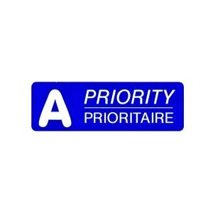 Post-Etiketten A Prioritaire, A-Post, 45x15 mm, blau, Dispenser à 500 Stück