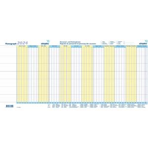 Ferienplaner Simplex Planograph 40365, 2019, gelb/blau