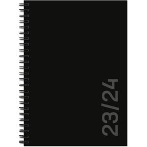 Agenda Simplex Weekly 40130S9, 1 Woche pro 2 Seiten, A5, Aug.- Dez. schwarz