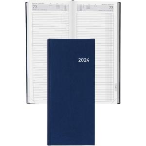 Agenda Biella Tower 800311, 13,5x31,5 cm, Kunstleder, 1 Tag auf 2 Seiten, blau