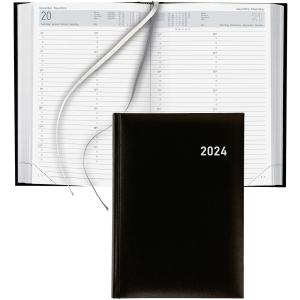 Agenda Biella Manager 806511, 1 Tag pro Seite, Kunstleder, A5, schwarz