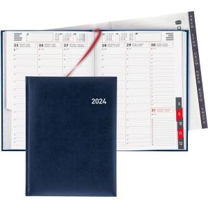Agenda Biella Orario 809301, 1 Woche auf 2 Seiten, mit Registerschnitt, blau
