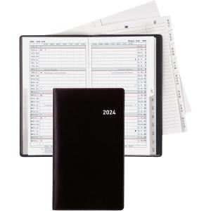 Taschenplaner Biella Luzern 855512, 1 Monat auf 2 Seiten, Kunststoff, schwarz
