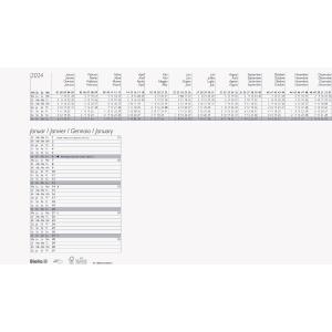 Schreibunterlage Biella 860012, 1 Blatt pro Monat