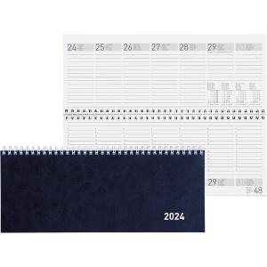 Tischplaner Biella Seplana 888371, 1 Woche auf 2 Seiten, Karton, blau
