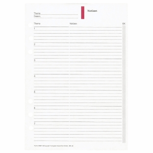 Formblatt Notizen Time/system Business 52949, liniert, 50 Blatt