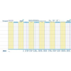Ferienplaner Simplex Planograph 40365, 2020, gelb/blau