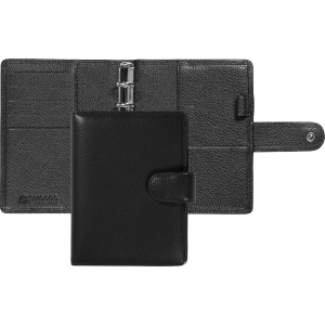 Ringbuch Succes Cadiz 842365, Junior, Rindsleder, schwarz