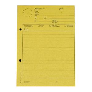 Telefonblock Elco 74584.79 A5, mit Uhr, 65 g/m2, 80 Blatt, gelb