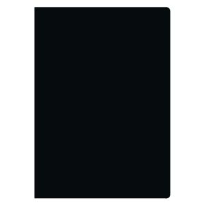 Leinenheft A6, 4 mm kariert, 48 Blatt, schwarz