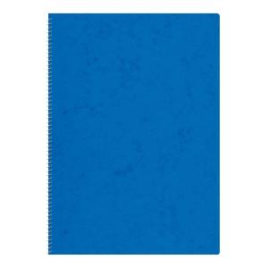 Notizheft A4, 4 mm kariert, mit Spiralbindung, 48 Blatt, blau
