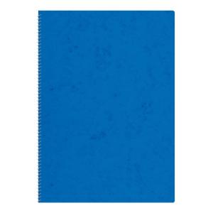 Notizheft A5, 4 mm kariert, mit Spiralbindung, 48 Blatt, blau